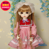 OUENEIFS ?bjd sd clothes 1/4 ?girls body doll dress, pink pleated skirt, pink casual pants