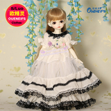 OUENEIFS bjd sd clothes ?1/4 Doll dress, temperament, lace, dress, bubble sleeve
